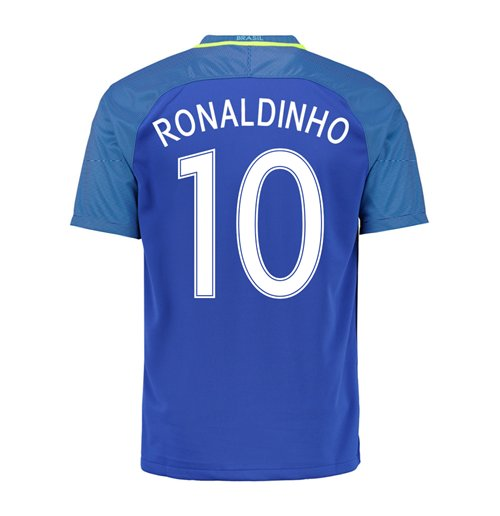 2016-17 Brazil Away Shirt (Ronaldinho 10)