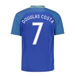 2016-17 Brazil Away Shirt (Douglas Costa 7)