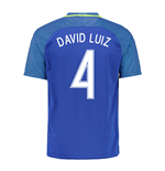 2016-17 Brazil Away Shirt (David Luiz 4) - Kids