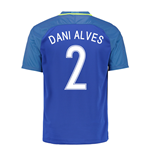 2016-17 Brazil Away Shirt (Dani Alves 2) - Kids