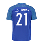 2016-17 Brazil Away Shirt (Coutinho 21) - Kids