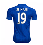 2016-17 Leicester City Home Shirt (Slimani 19)