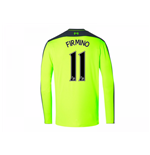 2016-17 Liverpool Third Long Sleeve Shirt (Firmino 11)
