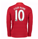 2016-17 Liverpool Home Long Sleeve Shirt (Your Name) -Kids