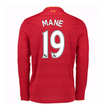 2016-17 Liverpool Home Long Sleeve Shirt (Mane 19) - Kids