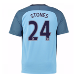 2016-17 Man City Home Shirt (Stones 24) - Kids