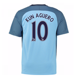 2016-17 Man City Home Shirt (Kun Aguero 10)
