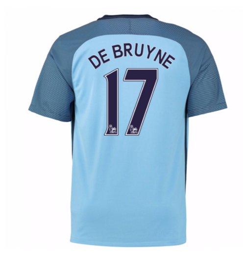 quality design 9e2fa 6ddf1 2016-17 Man City Home Shirt (De Bruyne 17) - Kids