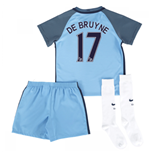 2016-17 Man City Home Mini Kit (De Bruyne 17)