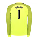 2016-17 Man City Home Goalkeeper Shirt (Bravo 1) - Kids