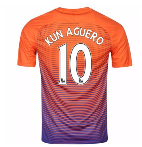 buy popular 994f9 76e7c 2016-17 Manchester City Third Shirt (Kun Aguero 10)