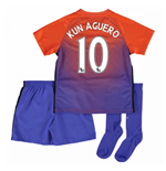 2016-17 Manchester City Third Mini Kit (Kun Aguero 10)