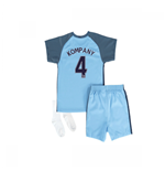 2016-17 Manchester City Home Baby Kit (Kompany 4)