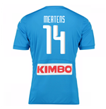 2016-17 Napoli Authentic Home Shirt (Mertens 14)