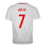 2016-17 Poland Home Shirt (Milik 7)