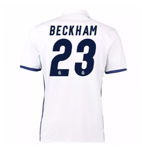 2016-17 Real Madrid Home Shirt (Beckham 23) - Kids