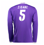 2016-17 Real Madrid Away Shirt (Zidane 5) - Kids