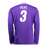 2016-17 Real Madrid Away Shirt (Pepe 3) - Kids