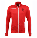 2016-2017 Albania Macron Poly Track Jacket (Red)
