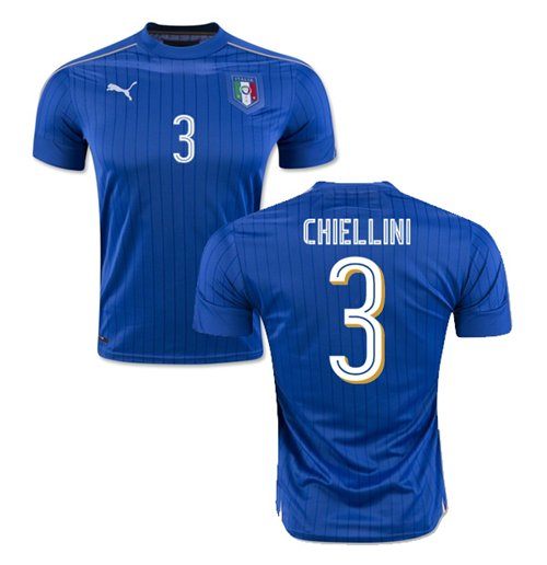 2016-2017 Italy Puma Home Shirt (Chiellini 3)