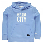 2016-2017 Man City Nike Core Hooded Top (Blue) - Kids