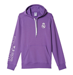 2016-2017 Real Madrid Adidas Cotton Hoody (Purple)