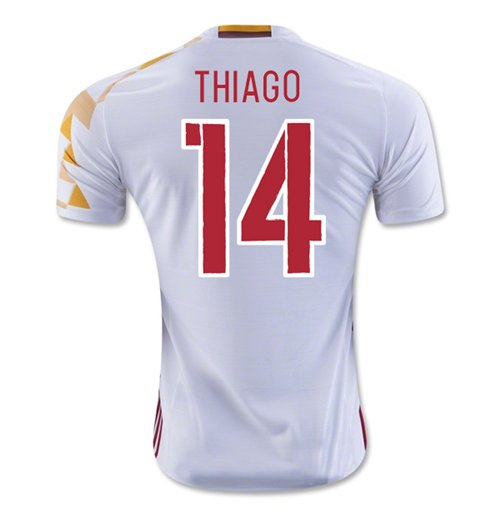 2016-2017 Spain Adidas Away Shirt (Thiago 14)