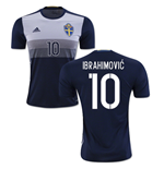 2016-2017 Sweden Away Shirt (Ibrahimovic 10) - Kids