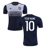 2016-2017 Sweden Away Shirt (Your Name) -Kids