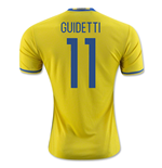 2016-2017 Sweden Home Adidas Shirt (Guidetti 11) - Kids
