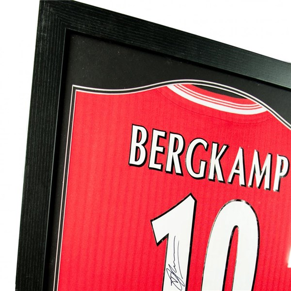 Arsenal F.C. Bergkamp Signed Shirt (Framed)