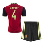 2016-2017 Belgium Home Mini Kit (Kompany 4)