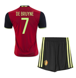 2016-2017 Belgium Home Mini Kit (De Bruyne 7)