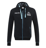 2016-2017 Glasgow Warriors Rugby Full Zip Hoody (Black)