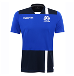 2016-2017 Scotland Macron Rugby Poly Dry Gym T-Shirt (Blue) - Kids