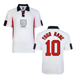 Score Draw England World Cup 1998 Home Shirt (Your Name)