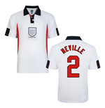 Score Draw England World Cup 1998 Home Shirt (Neville 2)