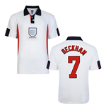 Score Draw England World Cup 1998 Home Shirt (Beckham 7)