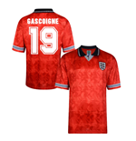 Score Draw England World Cup 1990 Away Shirt (Gascoigne 19)