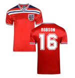Score Draw England World Cup 1982 Away Shirt (Robson 16)