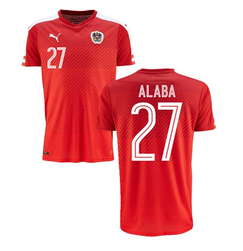 2016-2017 Austria Home Shirt (Alaba 27)