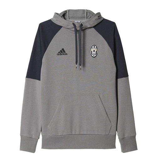 96a73ca6ead Buy Official 2016-2017 Juventus Adidas Hooded Sweat Top (Solid Grey)