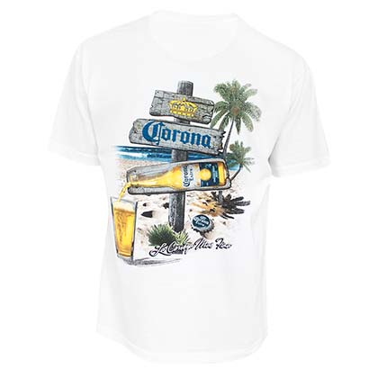 CORONA EXTRA Beach Sign Tee Shirt