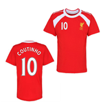 Official Liverpool Training T-Shirt (Red) (Coutinho 10)