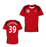 Official Man United Training T-Shirt (Red) (Rashford 39)