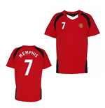 Official Man United Training T-Shirt (Red) (Memphis 7)