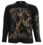 Steampunk Skeleton - Longsleeve T-Shirt Black