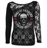 Soa Redwood Original - Allover Licensed Shoulder Lace Top Black