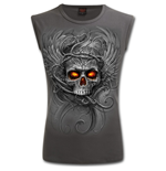 Roots Of Hell - Sleeveless T-Shirt Charcoal