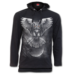 Wings Of Wisdom - Fine Cotton Summer Hoody Black